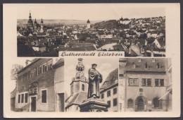 """Luther :  """"Foto-AK """"Lutherstadt Eisleben"""", 1957 Gelaufen - Christentum"""