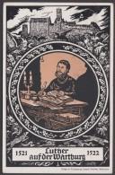 """Luther :  AK """"Luther Auf Der Wartburg"""", 1921, Pass. Stempel - Christentum"""