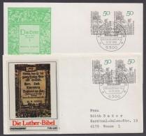 """Luther :  450 Jahre """"Luther Katechismus"""", 2 Versch. Belege Mit Pass. Sst. - Christentum"""