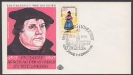 """Luther :  DDR, Dek. Brief """"Luther"""", 1967, Pass. Sst """"Wittenberg"""" - Christentum"""