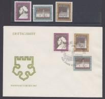 """Luther :  DDR, """"Luther-Ehrung"""" 1967, Satz ** Und FDC Mit Pass. Sst. - Christentum"""