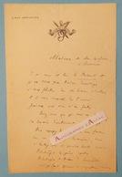 L.A.S Albin VALABREGUE écrivain Philosophe Librettiste Né Carpentras - Cercle De La Presse Le Passant Lettre Autographe - Autographes