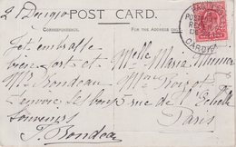 GRANDE - BRETAGNE : CP . POSTED AT SEA . PAQUEBO CARDIFF . 1910 . - 1902-1951 (Kings)