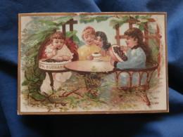 Chromo Chocolat Suchard - Enfants, Broderie En Dégustant Du Chocolat L376 - Suchard