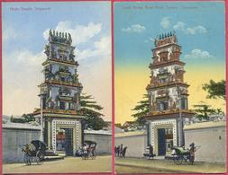 Collection-Singapore (UNC+SUP) 1900s+1913 Hindu Temple, South Bridge Road -The Continental Compagny N°1026+N°19 -cpa Old - Singapore