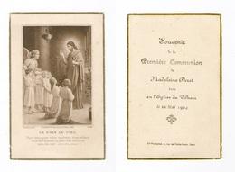 Le Vilhain, 1re Communion De Madeleine Deret, 1924 - Images Religieuses