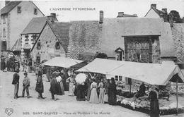 ¤¤  -  SAINT-SAUVES   -  Place Du Portique   -  Le Marché    -  ¤¤ - France