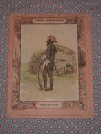 Couverture Illustrée D'ancien Cahier D'écolier - Sauvages Des Iles Viti & Carte De L'Océanie - Cahiers Géographiques - Blotters