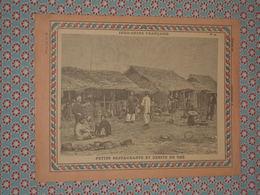 Couverture Illustrée D'ancien Cahier D'écolier - Indochine - Petits Restaurants & Débits De Thé + Carte Indo-Chine - 19e - Blotters