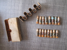 Boite De 16 Cartouches 9mm  Allemande Neutralisées - Armes Neutralisées