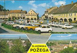 Slavonska Pozega - Main Square - Old Cars - Ford Taunus Zastava 750 VW Volkswagen Kafer Bug 1974 - Croatia