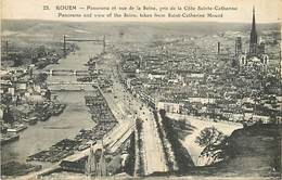 A 18 - 422 - ROUEN - PANORAMA ET VUE DE LA SEINE - ELD ED - 23 - - Rouen