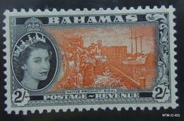 BAHAMAS 1954 Queen Elizabeth II Stamps: 1S. & 2S. SG 211-212. Scott 168-169. MH - Bahamas (...-1973)