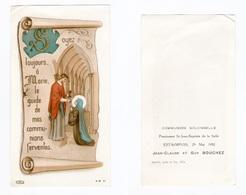 Estaimpuis, Communion Solennelle De Jean-Claude Et Guy Bouchez, 1952, Pensionnat Saint Jean-Baptiste De La Salle - Images Religieuses