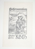 Ex-libris Moderne XXème Illustré -  Allemagne - Günther Und Emmy ROTZ - Ex Libris