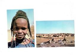 Lot 2 Cpm HAUTE-VOLAT Pays LIPTAKO Fillette PEULH GAOBE Coiffure Pays KOUROUMBA Bourzanga Teinturier Indigo Métier - Burkina Faso