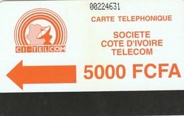 Ivory Coast - Orange Logo - Notched 5000 - Ivory Coast