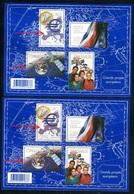 France - N°Bloc 123 - Europe En Violet + 1 En Gris Violet , Neufs ** - Ref VJ156 - Variétés Et Curiosités