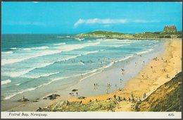 Fistral Bay, Newquay, Cornwall, 1973 - Harvey Barton Postcard - Newquay