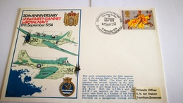 "Enveloppe ""royal Navy"" 1954 - Airplanes"