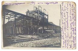 Cpa Carte-photo écrite De Keberit ( Construction De La Gare ? Texte En Italien, Dans L'état ) - Algérie