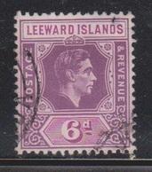 LEEWARD ISLANDS Scott # 110 Used - KGVI Definitive - Leeward  Islands