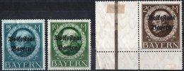 GERMANIA, GERMANY, ANTICHI STATI, BAVIERA, BAYERN, RE LUDWIG III, 1919, FRANCOBOLLI NUOVI (MLH*) Scott 153-155 - Bavaria
