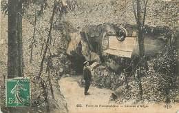A 18 - 425 - FONTAINEBLEAU - LA FORET - CAVERNE D'AUGAS - ELD ED - 462 - - Fontainebleau