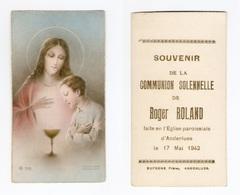 Anderlues, Communion Solennelle De Roger ROLAND, 1942 - Images Religieuses