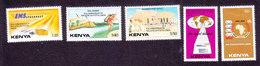 Kenya, Scott #510-514, Mint Hinged, Pan-African Postal Union, Issued 1989 - Kenya (1963-...)