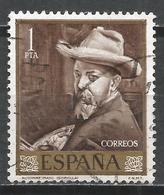 Spain 1964. Scott #1219 (U) Painting By Sorolla, Selft-Portrait * - 1961-70 Oblitérés