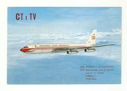 CT--02419-- CARTOLINA-PORTOGALLO- BOEING 707-320B-TAP PORTUGUESE AIRWAYS - CB