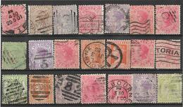5Sb-629: Restje Van 21 Zegels VICTORIA...diverse .. Om Verder Uit Te Zoeken.. - 1850-1912 Victoria
