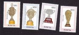 Kenya, Scott #515-518, Mint Hinged, Soccer Trophies, Issued 1990 - Kenya (1963-...)