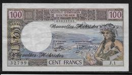 Nouvelles Hébrides - 100 Francs - 1975 - Pick N°18c - TTB - Billets