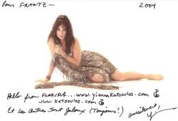 VERITABLE AUTOGRAPHE SUR PHOTO - ANIMATRICE TELE YIONNA KATSOULOS - Autographes