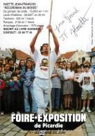VERITABLE AUTOGRAPHE SUR PHOTO - SPORT : JEAN FRANCOIS HUETTE - GRIMPER DE CORDE - FOIRE EXPO DE PICARDIE - Autographes