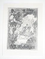 Ex-libris Moderne Illustré XXème - Allemagne - G.J. Rhebergen - Bookplates