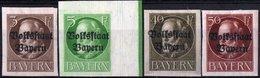 GERMANIA, GERMANY, ANTICHI STATI, BAVIERA, BAYERN, COMM., RE LUDWIG III, 1920, NUOVI (MLH*) Scott 156,157,165,166 - Bavaria