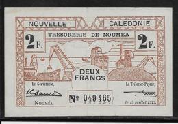 Nouvelle Calédonie - 2 Francs - 29-3-1943 - Pick N°56 - SUP - Billetes