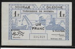 Nouvelle Calédonie - 1 Franc - 29-3-1943 - Pick N°55 - SUP - Banknotes