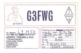 CT--02420-- CARTONCINO-INGHILTERRA-FALMOUTH-1974 - CB