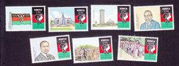 Kenya, Scott #529-535, Mint Hinged, Kenya National African Union, Issued 1990 - Kenya (1963-...)