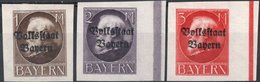 GERMANIA, GERMANY, ANTICHI STATI, BAVIERA, BAYERN, RE LUDWIG III, 1920, FRANCOBOLLI NUOVI (MLH*) Scott 170-172 - Bavaria