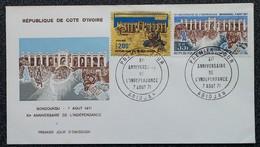 Côte D'Ivoire - FDC 1971 - YT N°321 + Aérien N°52 - Indépendance - Ivory Coast (1960-...)