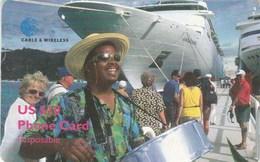 Virgin Islands - Man Drums Cruiseship (Chip On Back) - Virgin Islands