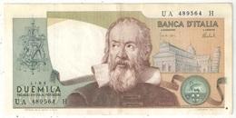2000 Lire Galileo 1973 - [ 2] 1946-… : République