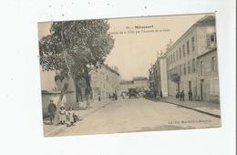 MIRECOURT (VOSGES) 28 ENTREE DE LA VILLE PAR L'AVENUE DE LA GARE (MAGASIN CHAUSSURES  A LA RENOMMEE. ET DILIGENCE) 1915 - Mirecourt
