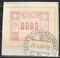 Svizzera - ATM - SCHWERZENBACH 29-4-1983 - Su Frammento - Svizzera