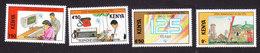 Kenya, Scott #523-526, Mint Hinged, ITU Anniversary, Issued 1990 - Kenya (1963-...)
